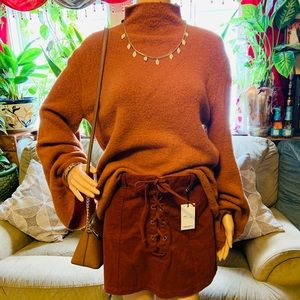 Brushed Knit Sweater (Rust)